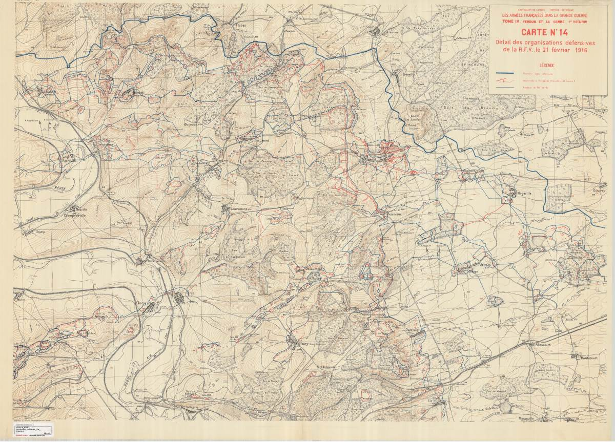 Le secteur nord de la RFV à la veille de l'offensive allemande