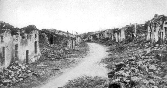 Les ruines du village de Douaumont