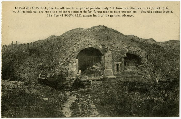 The Fort of SOUVILLE, extreme limit of the german advance.