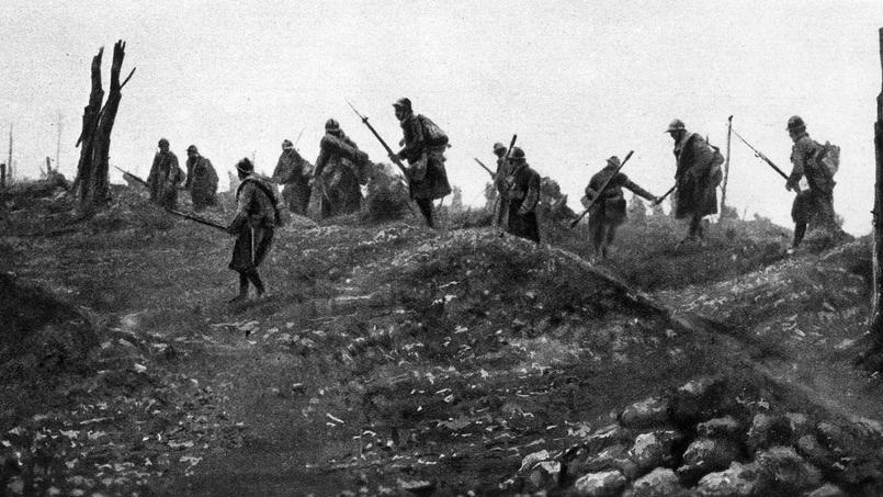 Infanterie française à l'assaut.